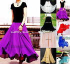 100% Silk Full Circle Long Skirts 2~20 / XS~3XL●#AF681