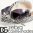 WOMENS DG SUNGLASSES ZEBRA FASHION HARD CASE DESIGNER