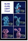 5 NICKELODEON BLUES CLUES LIGHT LAMP FAN PULLS YOU PICK