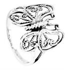 Silver  New Life Antique Cut Out Design Butterfly Ring