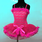 m010 UsaG Birthday Halloween Ballet Party Dance TuTu Skirt Fancy Girl Dress 3-8y