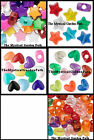 100 Acrylic Star or Heart Pony Bead Mixes   *You Choose