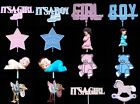 New Baby Boy Girl Floral Craft Planter Pick Decoration in 16 Styles
