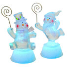 Cute Snowman Card Holder Christmas Decoration With Colour Changing LED Light