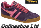 NEW WOMENS GIRLS GOLA CLASSICS HARRIER BRIGHT DAMSON / FUCHSIA  FLAT TRAINERS