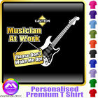 Electric Guitar Dont Wake Me - Custom Music T Shirt 5yrs - 6XL by MusicaliTee