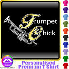 Trumpet Chick - Personalised Music T Shirt 5yrs - 6XL by MusicaliTee