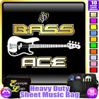 Bass Guitar Bass Ace - Sheet Music & Accessories Personalised Bag by MusicaliTee