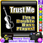 Double Bass Trust Me - Sheet Music & Accessories Personalised Bag by MusicaliTee