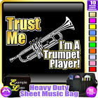 Trumpet Trust Me - Sheet Music & Accessories Personalised Bag by MusicaliTee