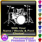 Drum Kit Picture With Your Words - Music T Shirt 5yrs - 6XL by MusicaliTee