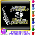 Sax Alto Play For A Pint - Personalised Music T Shirt 5yrs-6XL MusicaliTee 2