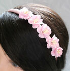 CHERRY BLOSSOM ROSE FLOWER ALICE BAND TIARA, Wedding Accessories, Fancy Dress