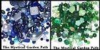 1/4lb Czech Glass Bead Mix *Multi Shapes & Colors  * Blues OR Greens