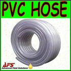 Reinforced CLEAR PVC Braided Hose Water Pipe Flexible Plastic Food Air Tubing uk