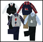 NWT Cherokee Boy Complete Dressy Outfit Vest/Pants/Long Sleeve Shirt Cute 3/4 Pc