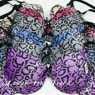 6 BRAS BR9942PR SNAKE 32B 34B 36B 38B 34C 36C 38C 40C LOT UNDERWIRE DEMI CUP