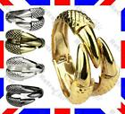 BIG eagle DRAGON CLAW WRAPAROUND clamp BRACELET cuff BANGLE silver/gold PUNK