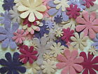 100 diecut DAISY FLOWER mulberry paper CHOICE OF COLOURS & MIXES from CRAFTY COW