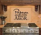 Preparar Todo Con Amor Spanish Vinyl Decal Wall Sticker Words Lettering Letters