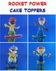4 NEW RETIRED ROCKET POWER CARTOON MINI CUP CAKE TOPPER DECORATIONS YOU PICK ONE