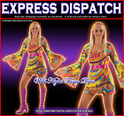 FANCY DRESS COSTUME 60'S/70'S HIPPY GOGO GIRL XS/SM/MED/LG/XL