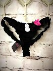 La Senza Rose For You Thong in Black / Pink Valentine's Day