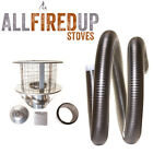"6"" Flexible Flue Liner Kit 3 For Wood Burning Stove 6"" To 6"""