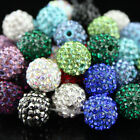 WHOLESALE CRYSTAL ALLOY DISCO BALL SPACER LOOSE BEADS JEWELRY FINDINGS 10MM