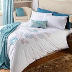 Peony Duck Egg Floral Duvet Quilt Cover Bedding Set Catherine Lansfield