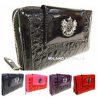 Black Purple Red Hot Pink Patent Clutch Purse Ladies Women Wallet Hand Bag Boxed