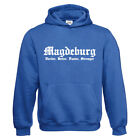 Kapuzenpullover - Magdeburg - Harder, Better, Faster, Stronger - Neu bis 3XL
