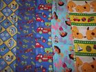 Novelty kids' prints cotton fabric Peanuts Snoopy Trucks Cars Planes Dora Spot
