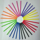 50  X 114MM PLASTIC ROUND COLOURED LOLLYPOP STICKS LOLLIPOP CRAFT COOKIE