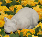Cast Stone Cement Classic Crouching Cat Outdoor Garden Statue