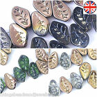 30 CRYSTAL AB GLASS LEAF 15x10MM BEADS - ALL COLOURS