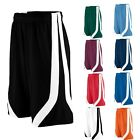 "MEN'S FULL CUT, MOISTURE WICKING, CONTRAST COLOR, SHORTS, 9"" INSEAM S-L XL 2X 3X"