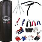 TurnerMAX 13 Piece Punch Bag Set Filled Punch Bag Wraps Boxing Gloves Bracket