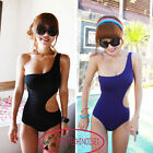 Trendy One Shoulder S-Shape Monokini One Piece Bademode Swimsuit  GW91