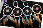 wholesale  dream catcher silk circle with butterfly DIA 3INCH