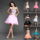 Stock Short Prom Dress Cocktail Party Evening Formal Ball Gown Evening Dress