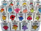Mr Men & Little Miss Metal KEY RINGS Mr Bump Clever Noisy Messy Lazy Funny Late