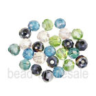 30pcs Charm Glass Crystal Faceted Round Ball Spacer Beads 7 colors 6x6mm