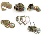 10x Mixed Styles Antique Bronze Tone Charms Pendants Fit Chain Necklace PICK