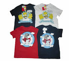 BOYS T-SHIRT/TOPS SNOOPY AND HOMER SIMPSONS 1 2 3 4 5 6 7 8 9 10 11 12 & 13 YRS