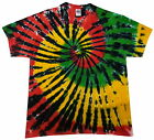 Tie dye T Shirt rasta spiral , all sizes, Hand dyed in the UK