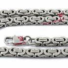 """Mens Biker 6.5mm Flat Byzantine Stainless Steel Chain Necklace 8.5 """"to 41"""""""