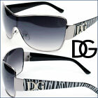 DG Sunglasses Womens Cat Eye One Piece Lens Aviator Zebra Designer 7 Clrs DG7309