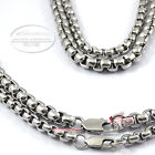 """Cool Mens 5.5mm 7.2mm Stainless Steel Square Box Link Chain Necklace 8"""" to 46"""""""