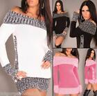 New Sexy Ladies Womens Jumper Mini Dress Knitted Sweater Tunic Top size 10/12